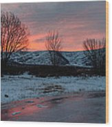 Winter Sunrise Wood Print by Chad Dutson