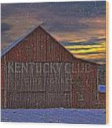 Winter Sunrise Over Dorothy's Barn. Wood Print