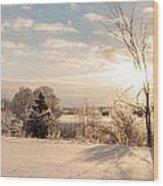 Winter Sunrise Panorama Wood Print