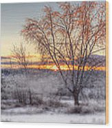 Winter Sunset Wood Print by Don Powers