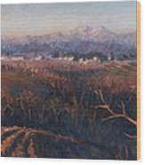 Winter Sunset In Brianza Wood Print