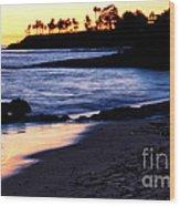 Winter Sunset In Laguna Beach II Wood Print