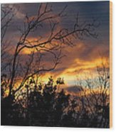 Winter Sunset In The Rogue Valley Wood Print