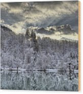 Winter Sunset Wood Print by Ivan Slosar