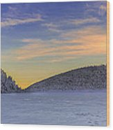 Winter Sunset Over Eagle Lakes Wood Print