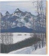 Winter Tetons Wood Print