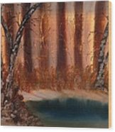 Winter Thaw Wood Print