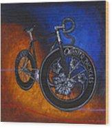 Winter Track Bicycle Wood Print