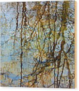 Winter Tree Reflections Wood Print