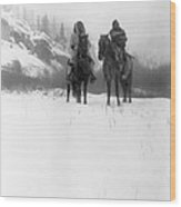Winter Trek   1908 Wood Print