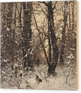 Winter Twilight Wood Print