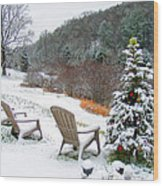 Winter Valley Chairs 2 Wood Print