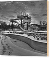 Winter Water Park Wood Print