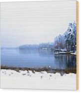 Winter Watercolor Wood Print