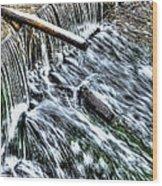 Winter Waterfall 2 Wood Print