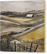 Winter Wheat Wood Print