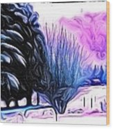 Winter Whimsey  Wood Print