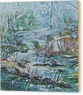 Winter Whispers On Catskill Creek Wood Print