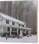 Winter Wonderland At The Valley Green Inn Wood Print