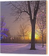 Winter Wonderland - Holiday Square - Casper Wyoming Wood Print