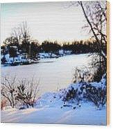 Winter Wonderland  In Maryland Usa Wood Print