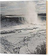 Winter Wonderland - Spectacular Niagara Falls Ice Buildup  Wood Print