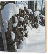Winter Wood Supply Wood Print