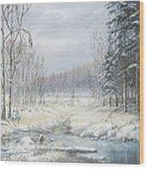 Winter Woods Wood Print