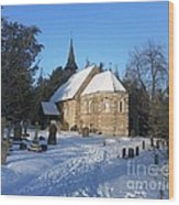 Winter Worship Wood Print