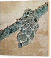 Wintercone Wood Print