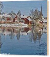 Winterday In Arboga  Wood Print