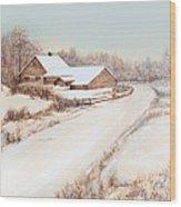 Winterness Wood Print by Michelle Wiarda