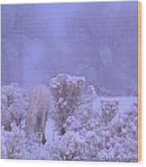 Winter's Blanket Of Snow  Wood Print by Jeanne  Bencich-Nations