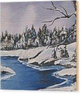 Winter's Blanket Wood Print