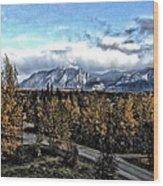 Winters Breath Wood Print