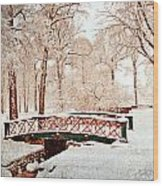 Winter's Bridge Wood Print