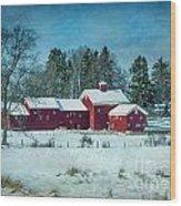 Winter's Colors Wood Print