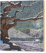 Winter's Day Wood Print