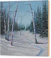 Winter's Day Wood Print