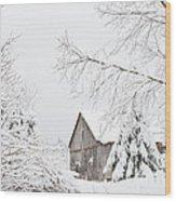 Winter's End Wood Print