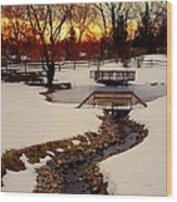 Winters Exit Wood Print
