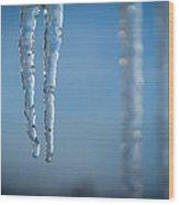 Winter's Fangs Wood Print