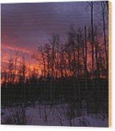 Winter's Fire Wood Print