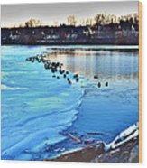 Winter's Grip Wood Print
