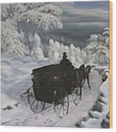 Winters Journey Wood Print