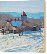 Winter's Mantle Wood Print