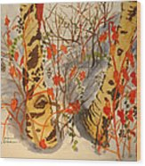 Winter's Paintbrush Wood Print