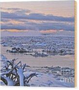 Winters River Wood Print