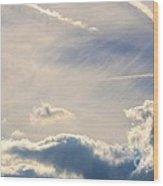 Winter's Streamlined Skies Wood Print