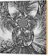 Winter's Vortex Wood Print